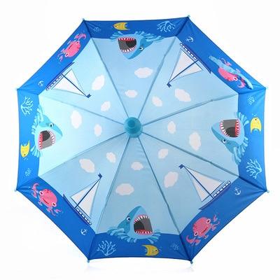 Trois types de dessin animé créatif à long manche automatique parapluie primaire école enfants mode bébé parapluie 012