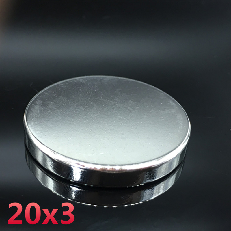 10pcs Neodymium magnet 20x3mm gallium metal small round strong magnets 20*3mm Neodimio electromagnet disc fridge magnets speaker 2pcs neodymium magnet 50x30 mm gallium metal super strong magnets 50 30 round neodimio magnet magnetic for water meters