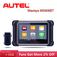 цена Autel MS906BT OBD2 Auto Scanner Diagnostic Tool OBD 2 Car Diagnostic Scanner Eobd Automotivo Automotriz Automotive Car Scan Tool в интернет-магазинах