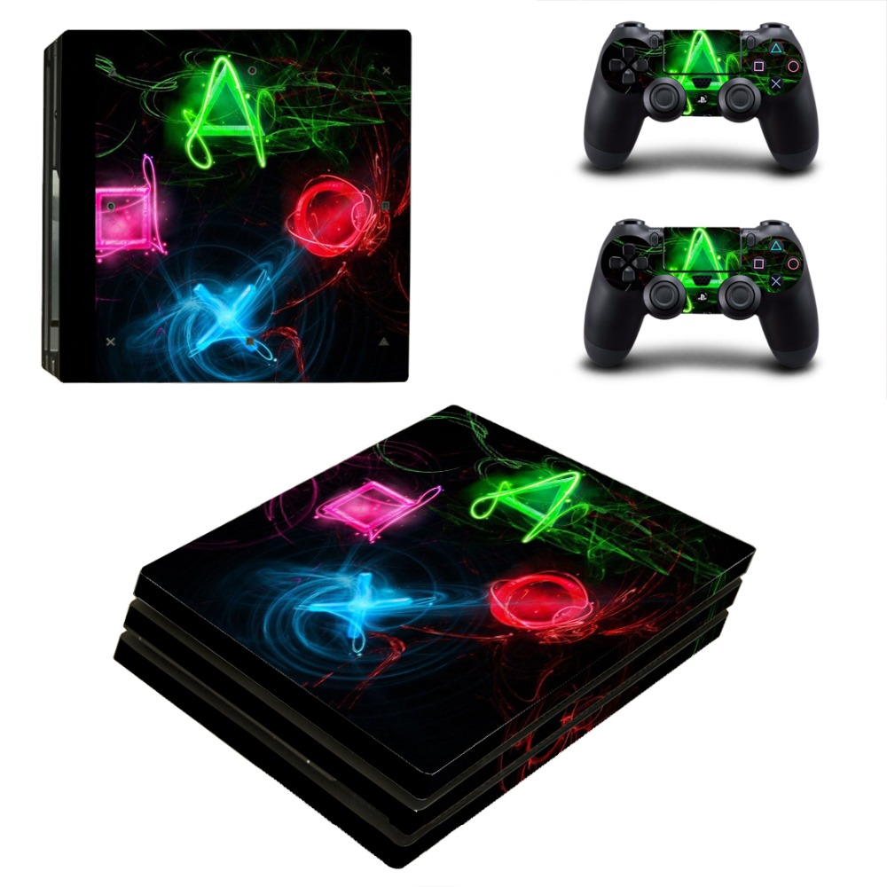 OSTSTICKER OSTSTICKER Four Shape Vinyl Skin Sticker For Playstation 4 Pro for Sony PS4 Pro Skins Decal