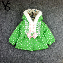 9m-3T High Quality Winter Baby Girls Toddler Children Cotton Coat Fur Warm Jacket OutWear Clothing Garment 12m 18m 2TClearance