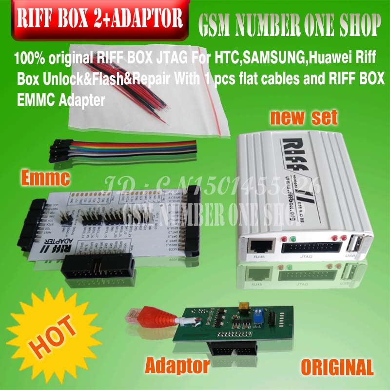 Original New Riff Box 2 Riff Box V2 Riff Box II + Emmc +Adapter  For LG&HTC, Samsung Mobiles Repair And Flash (and Emmc Adapter)