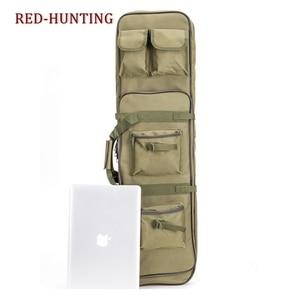 Image 5 - Yeni 120cm tüfek tabanca kılıfı taktik silah çantası yumuşak yastıklı karabina durumda olta çantası sırt çantası tabanca Shotgun Airsoft durumda depolama