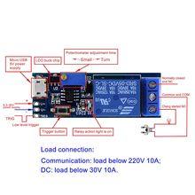 Умная электроника 5 V-30 V микро USB силовой регулируемое реле за запозданиевремени таймер контроля холодильного агрегата задержки триггера Переключатель