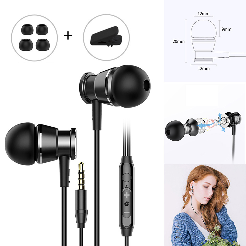 Universal  Stereo 3.5mm In-Ear Earphone Headphone Mic For Apple 4S/5S/6 Headset Headphones Music Earbuds Stereo Gaming Earphone