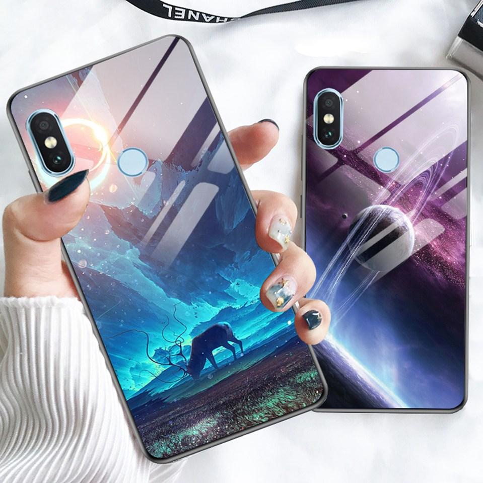 Tempered Glass Case For Xiaomi Redmi 6A Note 5 6 Pro Global 5 Plus 4X Cover Pattern Xiomi Phone Case for Xiaomi Mi A2 Lite A1 5X (18)