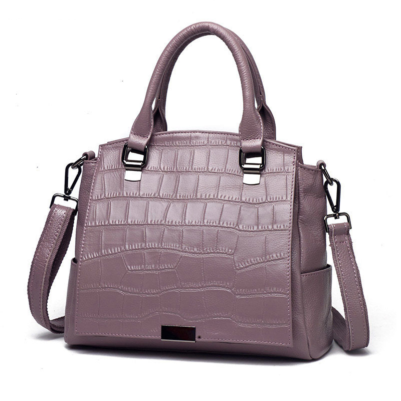 Women Bag Genuine Leather Handbag Cowhide Shoulder Messenger Bag Women Crossbody Handbag Crocodile Pattern Women Handbag New new women shoulder bag handbag 100