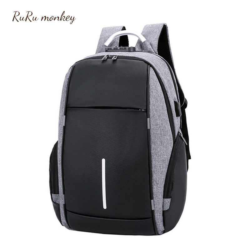 Travel Backpack USB Charging Large Capacity Teenager Bags Simple School Multifunction Backpack Business Mochilas EscolaresTravel Backpack USB Charging Large Capacity Teenager Bags Simple School Multifunction Backpack Business Mochilas Escolares