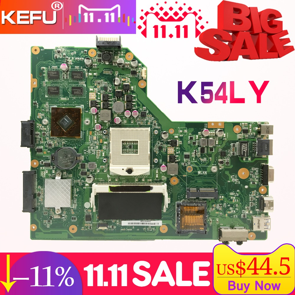 KEFU For ASUS K54LY K54HR X54H X54HR REV.2.0/2.1 1GB Video laptop motherboard tested 100% work original mainboard kefu x55a for asus x55a laptop motherboard asus x55a mainboard sjtnv rev 2 2 rev2 1 integrated 100% tested new motherboard