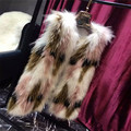 Beautiful Genuine Raccoon Fur Vest High Quality Real Raccoon Fur Short Women Vest Genuine Fur Sleeveless Length 90cm Bust 95cm