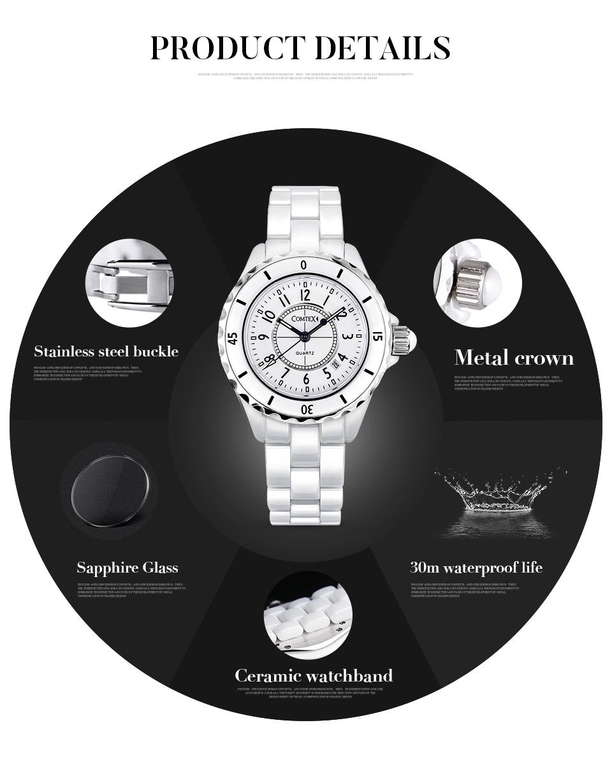 дешевые часы для женщин модные белые керамические кварцевые платье часы для женщин жемчуг керамические наручные часы леди подарок relogio женщина для часы
