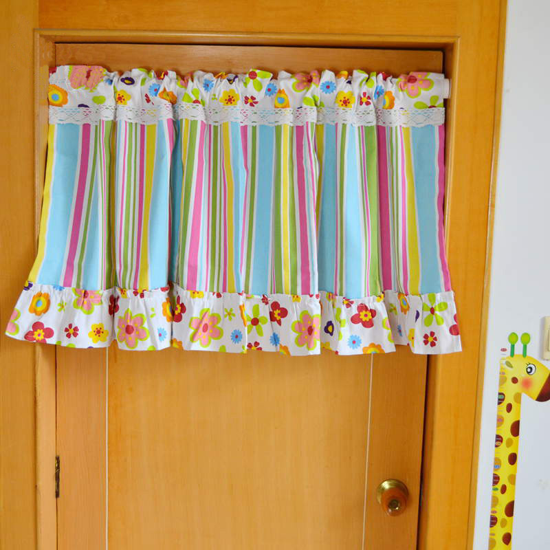 Incroyable Striped Valance Curtains Multicolor Canopy Window Fringe Curtain Kitchen  Door Short Curtains For Kids Bedroom Roman Blinds In Curtains From Home U0026  Garden On ...