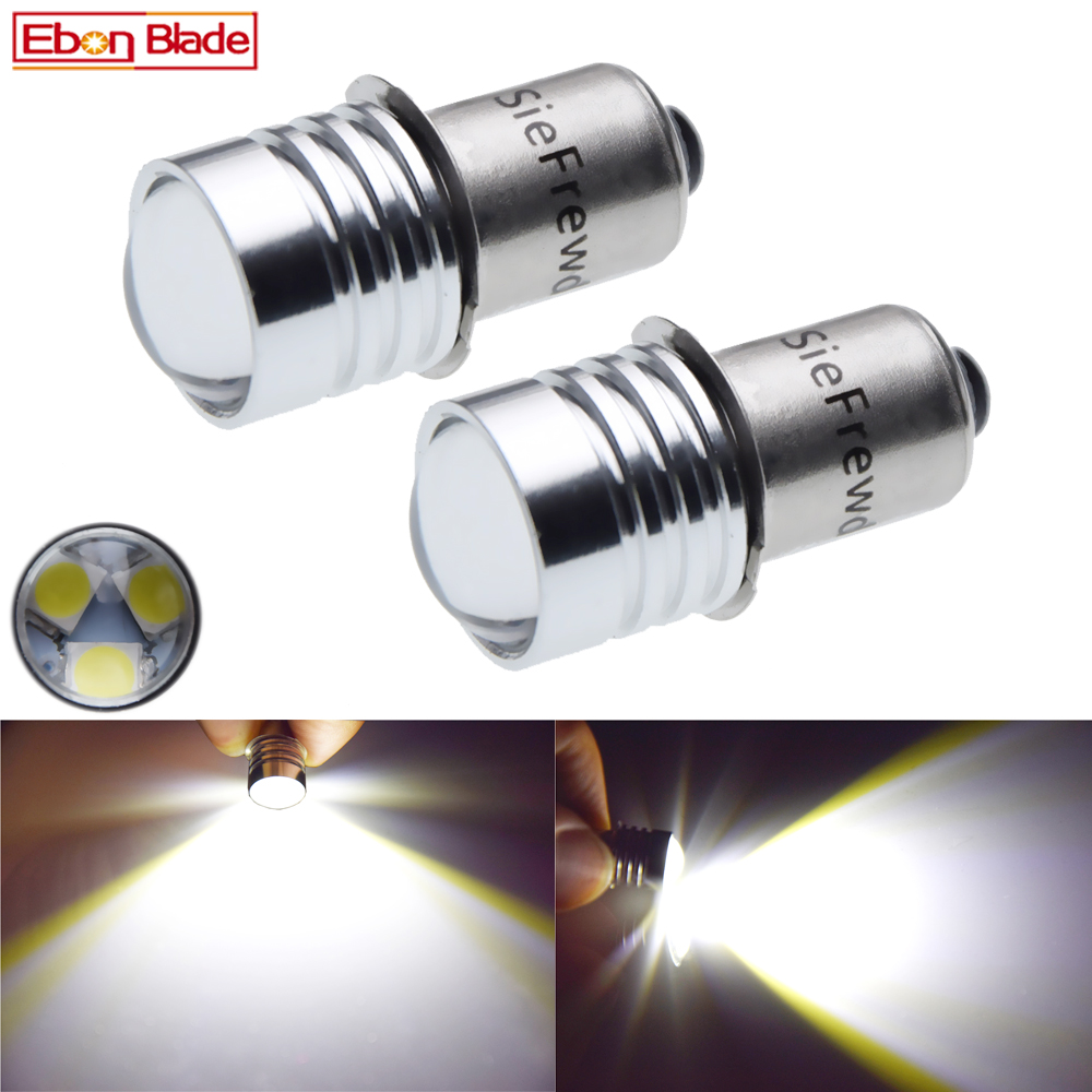 Pair P13.5S PR2 PR3 LED 3030 3SMD LED Emergency Work Light Torch Torches Flashlight Lamp Replacement Bulb 3V 6V 12V 18V 24V