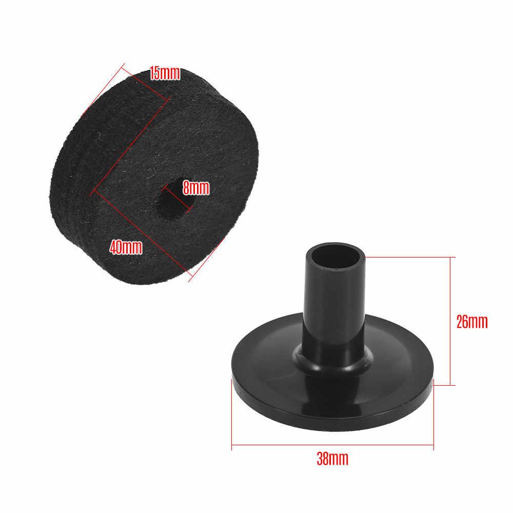 6 PCS Drum Accessoires Set Cimbaal Stand Vilt Wasmachines 2 PCS Cimbaal Mouwen Vervanging Kit voor Plank Drum Zwart