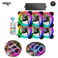 AIGO RGB Case Fan 120mm Fan Cooler Computer Fan Dual LED PC AR Remote LED Cooling