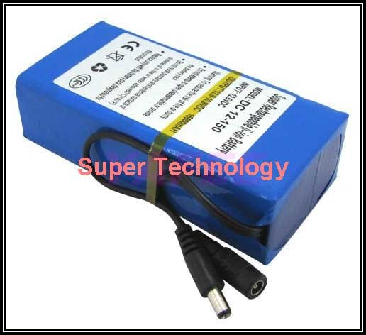 real 15000 Mah 5A current discharge,DC 12V battery pack lithium polymer battery pack battery,li-ion polymer battery 1A charger,