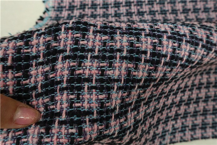Free Ship Pink Black Houndstooth Weaved Cotton And Viscose Tweed Fabric By Meter 59 Wide In From Home Garden On Aliexpress Alibaba Group
