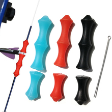 1pc Archery Finger Guard Bowstring Saver Silicon Bow String Hand Protector Soft Release Tab for Recurve Tradition
