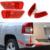 Halogênio Levou Externo Tail Light Rear Bumper Fog Lâmpada Para Jeep 2011-2015 voltar rear bumper luz da esquerda à direita