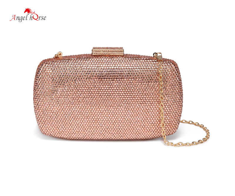 Angel Horse Mini Bag Luxury Hot Drilling Woman Evening Clutch Handbags Fashion 2018 Canvas Bag Clutch With Single Chain angel horse cross body messenger bag vintage single chain woman shoulder bag fashion wild women handbags for party daily life