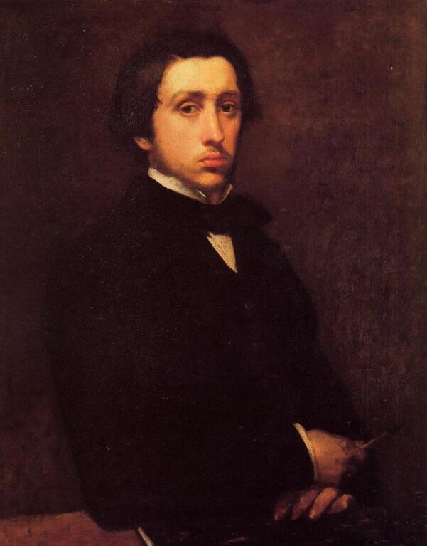 High quality Oil painting Canvas Reproductions Self Portrait (1855) By Edgar Degas hand paintedHigh quality Oil painting Canvas Reproductions Self Portrait (1855) By Edgar Degas hand painted