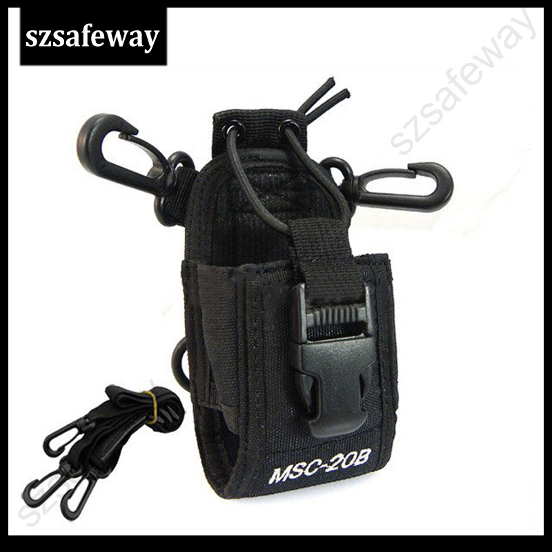 MSC-20B Two Way Radio Leather Case Carry Case Walkie Talkie Bag For Kenwood For Yaesu Wouxun  Puxing UV-5R