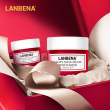 Lanbena Face Cream+eye Cream 2pcs Hyaluronic Acid Vitamin C Moisturizing Whitening Cream Anti Aging Serum Acne Treatment Firming