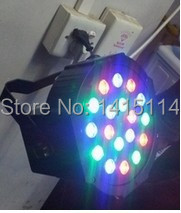free shipping and hot promotion  indoor 18pcsx1w RGB led flat par light