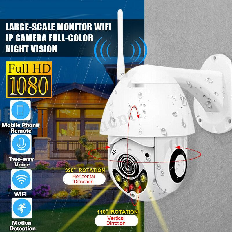 1080P IP Camera Led Light Wireless Camera Wifi Speed Dome PTZ Outdoor Two Way Audio IR Night Vision CCTV Security  with Speaker1080P IP Camera Led Light Wireless Camera Wifi Speed Dome PTZ Outdoor Two Way Audio IR Night Vision CCTV Security  with Speaker
