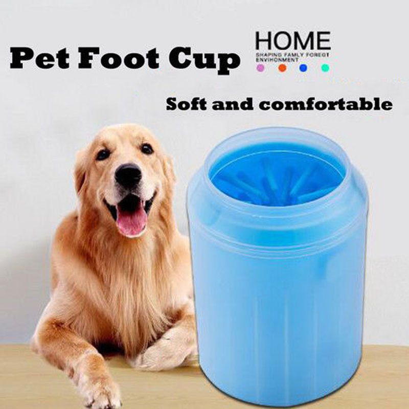 Portable Dog Paw Cleaner Cup New Creative Vogue Pet Dog Wash Feet Cup Durable Quickly Cleaner Feet Wash Tools S/M/L PY