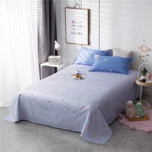 Image 3 - ParkShin Cartoon Bedding Set Rabbit Bedspread Blue Bed Flat Sheet Double Queen King Bedclothes Home Textiles Duvet Cover Set