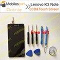 Para lenovo k3 note tela lcd 100% display lcd original + touch screen substituição assembleia para lenovo k3 note/k50-t smartphone