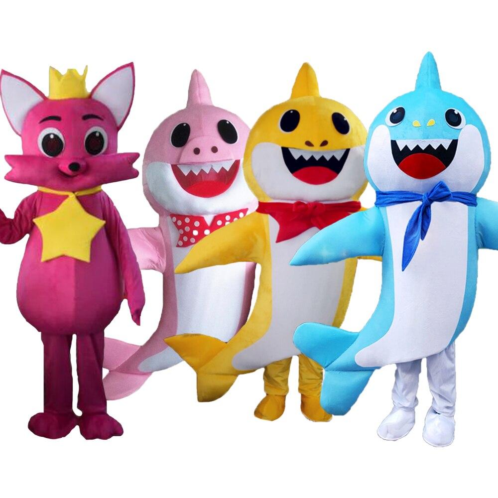 Costume de mascotte de requin personnage de dessin animé fête d'anniversaire carnaval Festival fantaisie poisson Cosplay robe adulte tenue