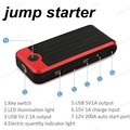 big sale Super Car Jump Starter 18000mAh Vehicle AUTO Engine Booster Emergency Start Battery Portable Charger Power Bank for2USB