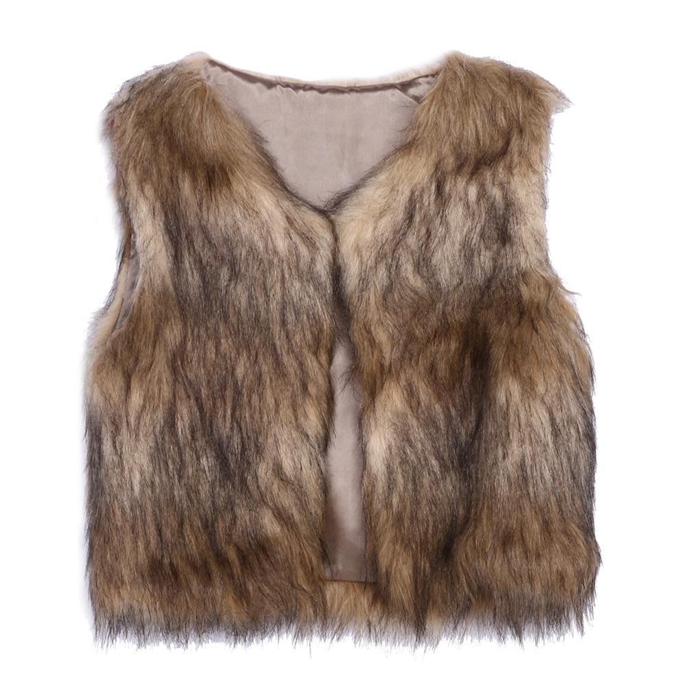 Womens Faux Fur Waistcoat Short Vest With Pocket High-Grade Faux Fur Coat Leisure Gilet Jacket Coat Sleeveless Elegant Outwear