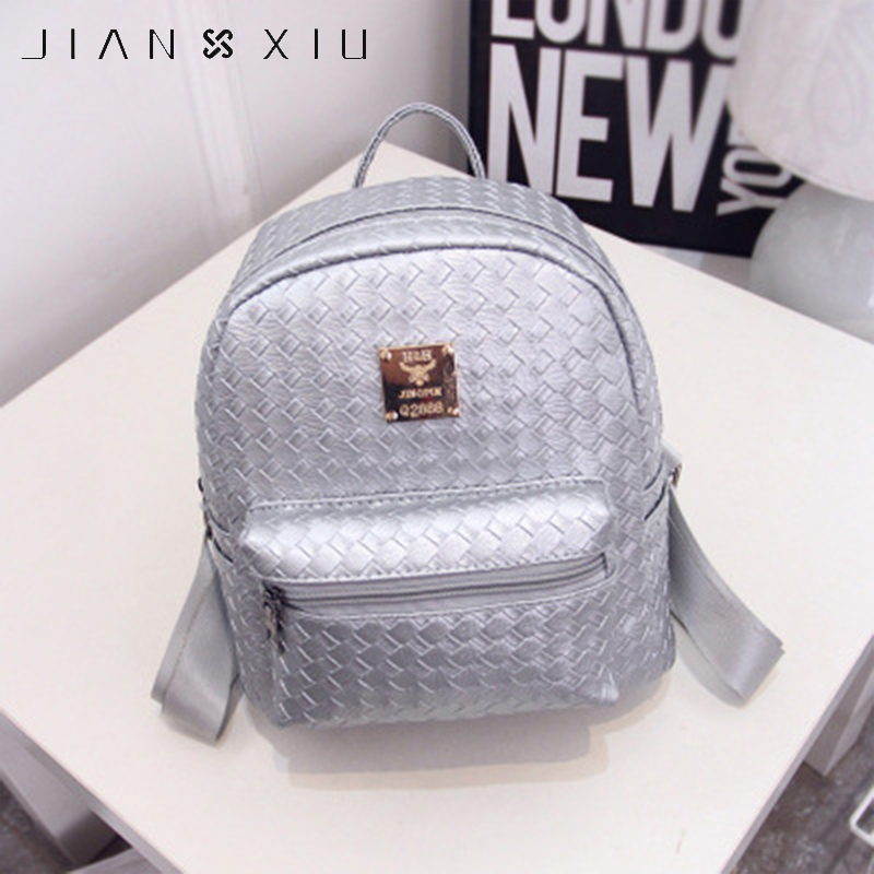 JIANXIU Women Small Bag New Solid Backpacks for Teenage Girls Schoolbag Backpack Fashion Mini Bag Preppy School PU Bags simple preppy style backpack women pu leather backpacks for teenage girls school bags fashion vintage solid shoulder bag black