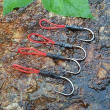 5pcs Stainless Steel Jigging Spoon Fishing Hook Pesca Peche Fish Hanken anzuelos Jig Hooks Assist Fishhook For Sea Fishing
