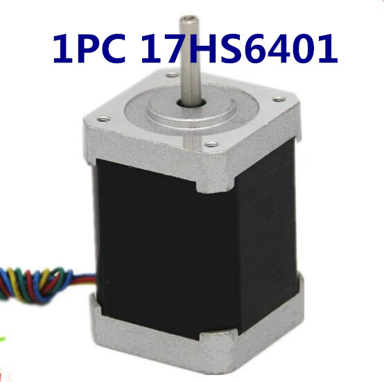 Free shipping 17HS6401 nema17 stepper motor 60mm / 2-phase hybrid stepper motor (1.7A, 0.73NM, 60mm, 4-wire) stepper motor комплект ковриков в салон автомобиля novline autofamily bmw series 1 5d 2004 2011