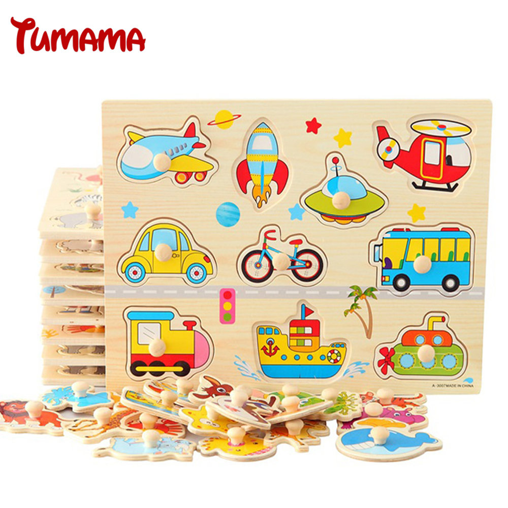 30cm Kid Early Educational Toys Baby Hand Grasp Wooden Puzzle Toy Alphabet and Digit Learning Education Child Wood Jigsaw Toy children s early childhood educational toys the bear change clothes play toys creative wooden jigsaw puzzle girls toys