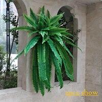 Yapay bitki Farsça yapraklar fern bitki duvar plastik merkezi arka plan duvar Galeri pencere düğün dekorasyon bırakır
