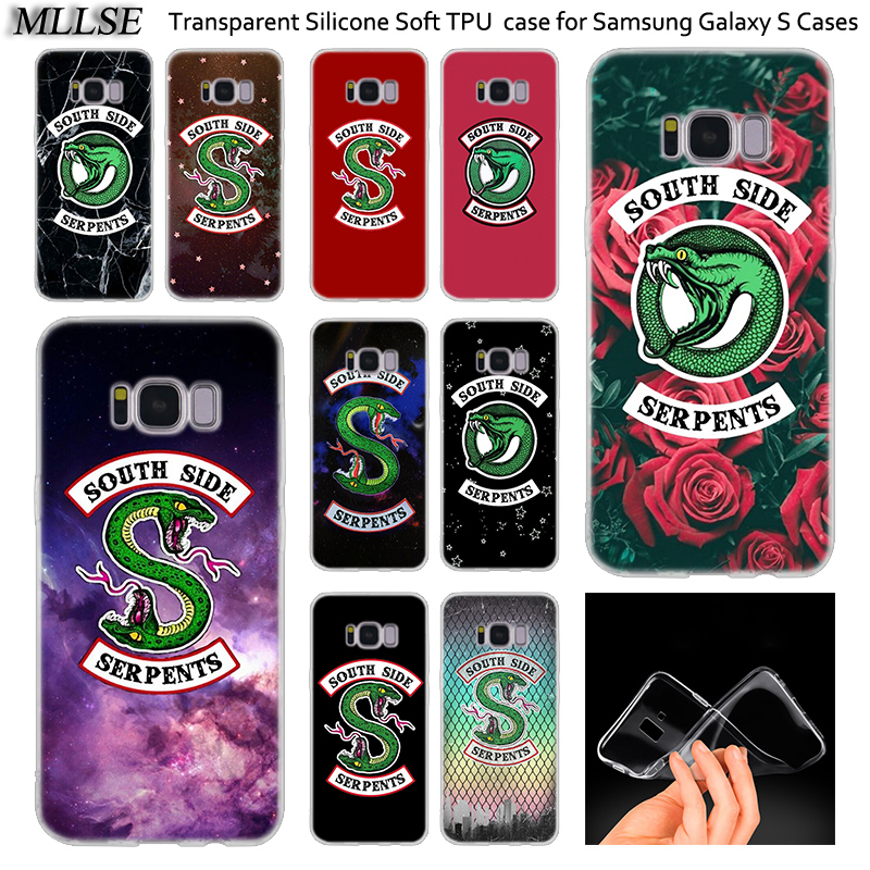 <font><b>Riverdale</b></font> South Side Schlangen Logo Silikon Fall Für <font><b>Samsung</b></font> <font><b>Galaxy</b></font> Note 10 Plus <font><b>S8</b></font> S9 S10 Plus 5G S6 s7 Rand S5 S10e Abdeckung image