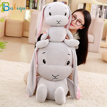 Babiqu 1pc 25/50cm Cute Rabbit Plush Toy Stuffed Soft Animal Rabbit Doll Baby Kids Toys Birthday Gift Christmas Present for Girl