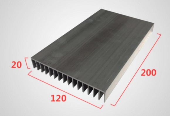 Fast Free Ship 120*20*200mm Electron dense tooth fin strip aluminum radiator