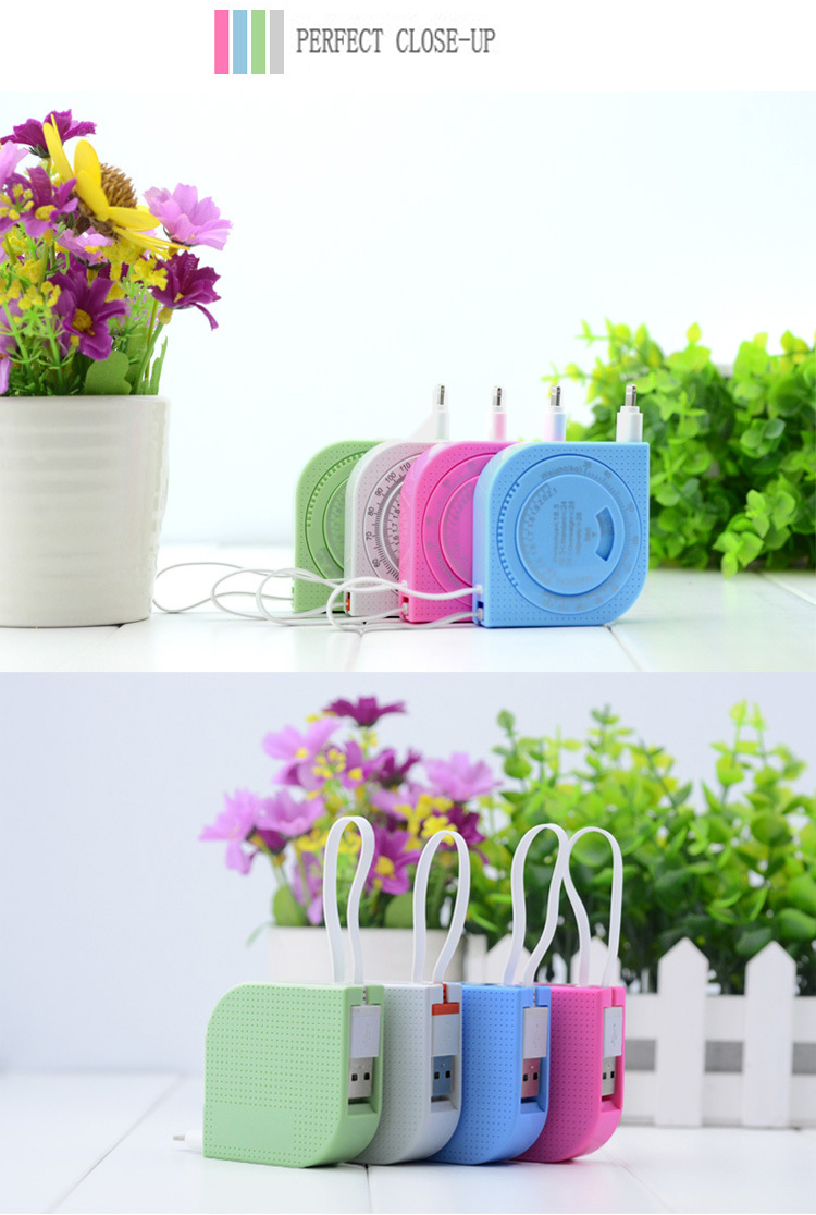 2 in 1 Ruler Cable Retractable Tape Measure Style Micro USB Data Charge Cable for iPhone iPad Samsung Android 4 Colors Available_12
