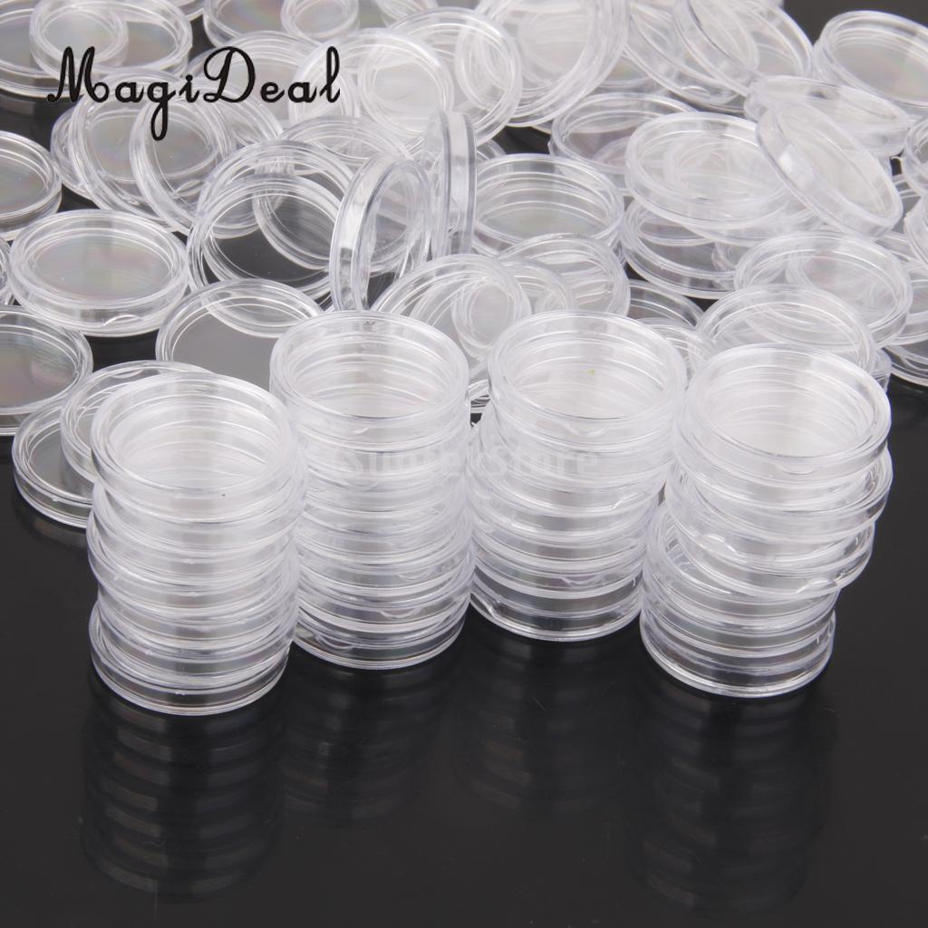 MagiDeal 100Pcs/Lot Coin Holder Capsules Clear Case Box for Coin Collection Protector 19mm/20mm/22mm/24mm/28mm/36mm/40mm-in Money Boxes from Home & Garden