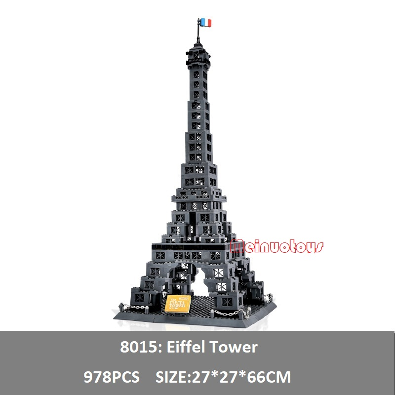Creator Expert City Building Blocks toys for Children Bricks World famous Building models La Tour Eiffel Tower Compatible Legoe loz mini diamond block world famous architecture financial center swfc shangha china city nanoblock model brick educational toys