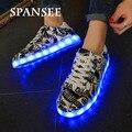Tamanho 35-45 nova moda chegou shoes tênis com sola de luz luminoso de incandescência do diodo emissor de luz formadores shoes cesta femme crianças menino