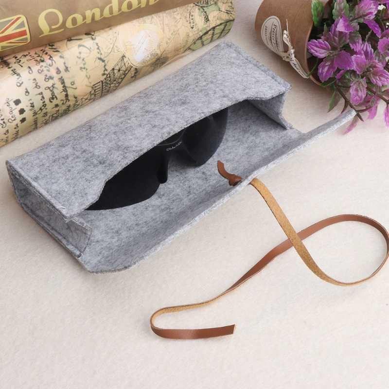 Bolsas de gafas de sol de fieltro fundas de gafas blandas portátiles Paquete de accesorios Cierre de correa
