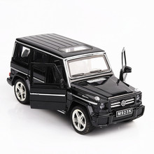 1:24 alloy car toy Benz G65 SUV children toy car model simulation sound and light door pull back car ornaments collection gift недорого