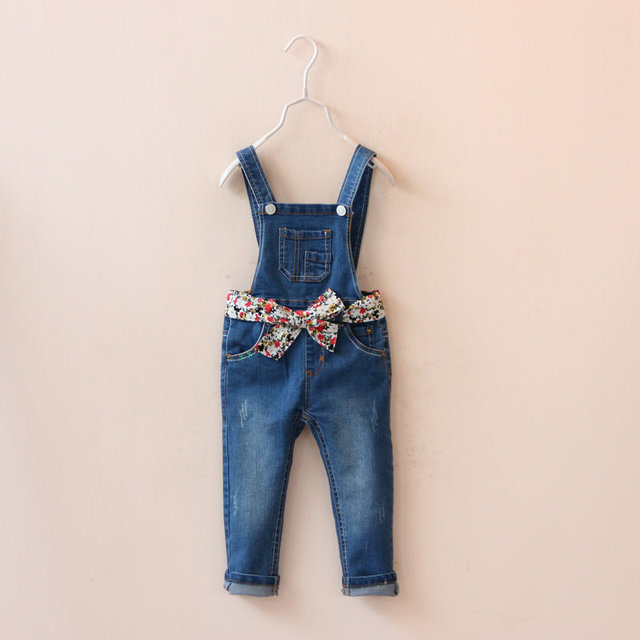 0c5c52522a1b Kids Jumpsuits Pants Jeans 2016 New Long Pants Baby Girls Jeans Overalls Korean  Children Cotton Kids Denim Overalls For Baby